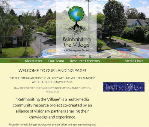 Reinhabiting the Village landing page promo