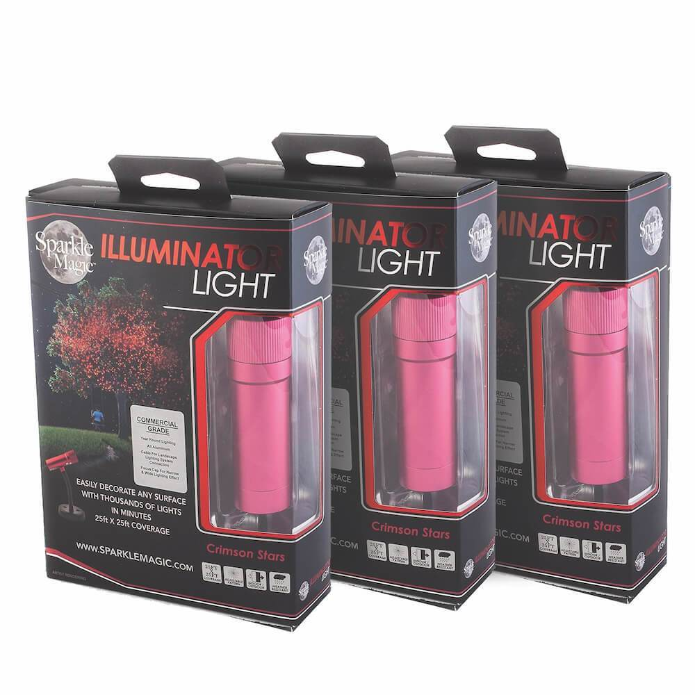 3-Pack Combo Sparkle Magic Illuminator Commercial Grade Laser Light