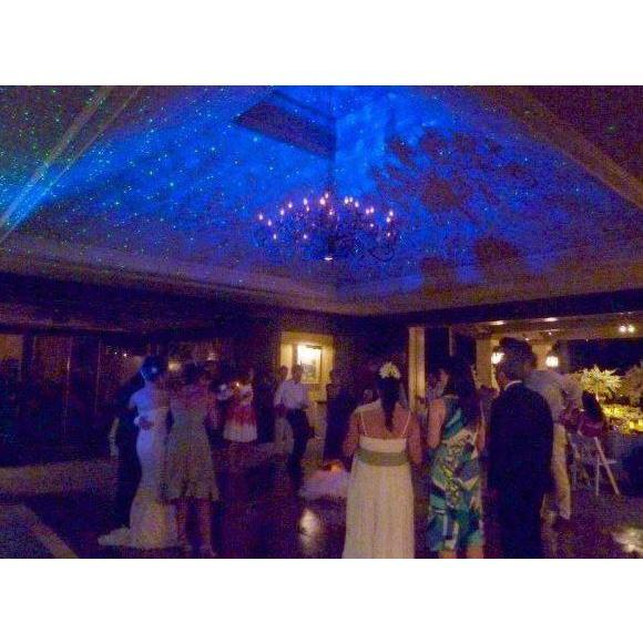 BlissLight BL-50 Planetarium Laser Light display at Wedding on ceiling