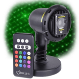 BlissLights Spright COLOR Green Laser Light projector with LED and remote