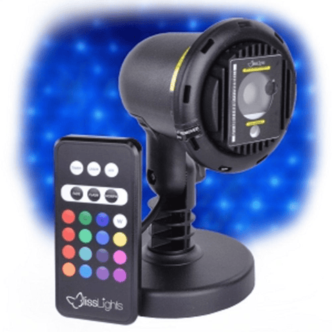 BlissLights Spright COLOR Blue Laser Light projector with LED and remote