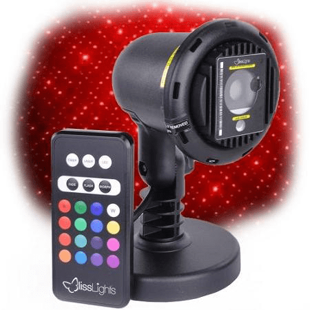 BlissLights Spright COLOR Red Laser Light projector with LED and remote