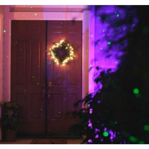BlissLights COLOR decorating entrance way for Christmas