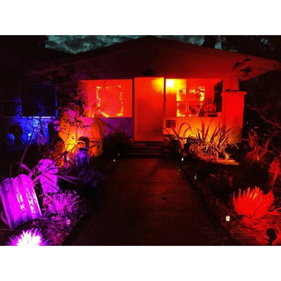 BlissLights Color Laser Projector for halloween lighting