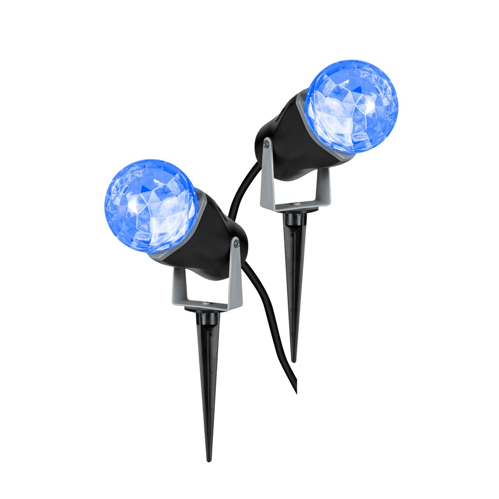 Icy Blue LED Moving Water Projector Light - 2 Pack