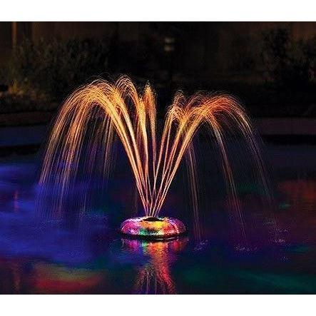 LED Underwater Light Show w/Fountain