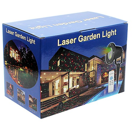 Moving 8-Pattern Red and Green Laser Light Projector
