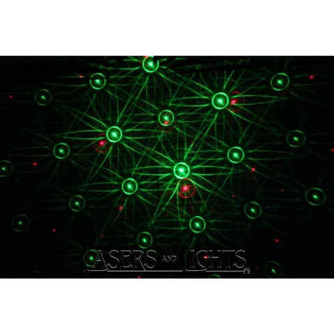 Green and Red Pattern Laser Light Show display