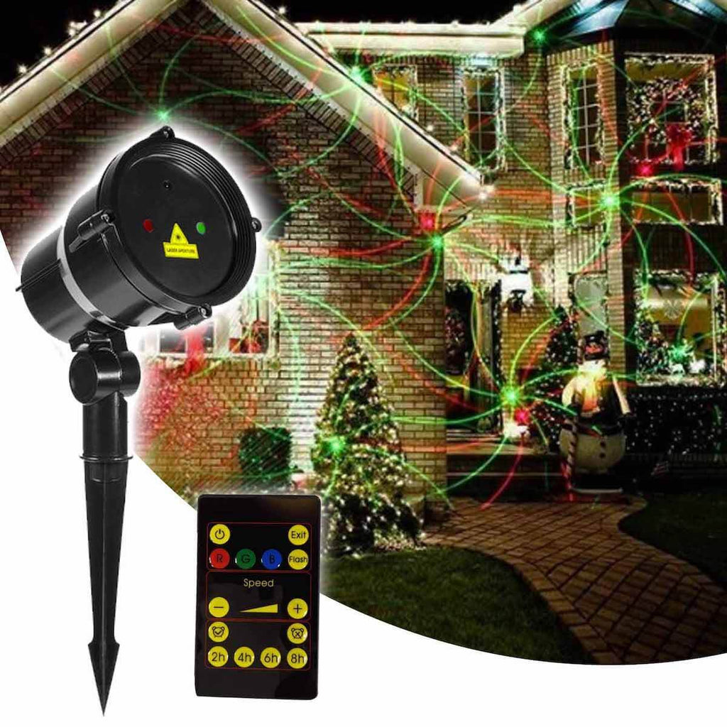 Moving Red/Green Multi Pattern Landscape Laser Projector with Remote