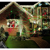 Red and Green Pattern Laser Christmas Projector