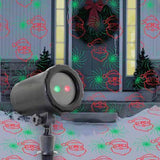 Night Stars Moving 6 Pattern Red & Green Laser Projector
