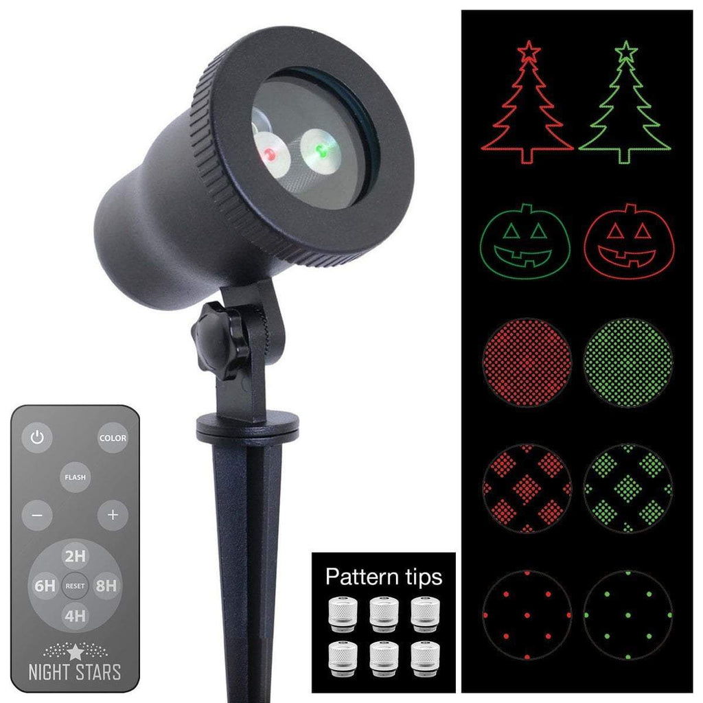 Night Stars Moving Pattern light show projector red and green with remote