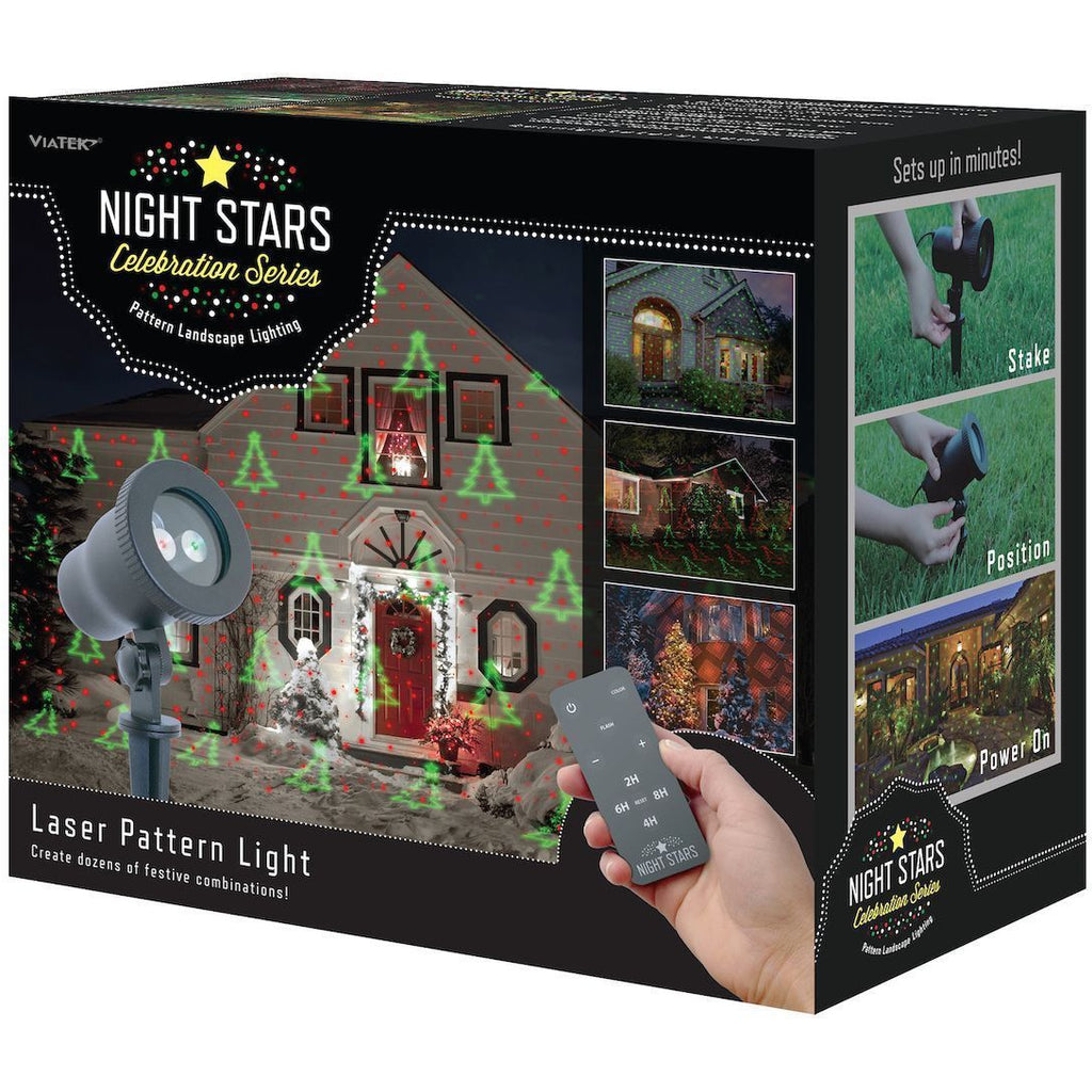 Night Stars Red & Green Laser with Interchangeable Pattern Tips