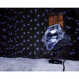Night Stars Red & Green Laser with Moving White Snowfall LED Effect with Remote
