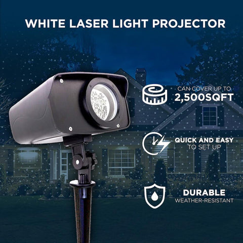 Night Stars White Laser Light Projector
