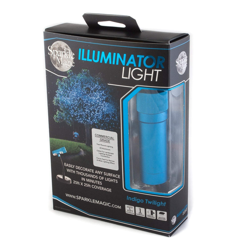 Sparkle Magic Illuminator blue outdoor light projector in box
