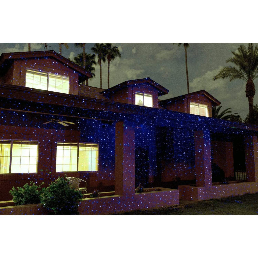 Sparkle Magic Blue laser light show on house