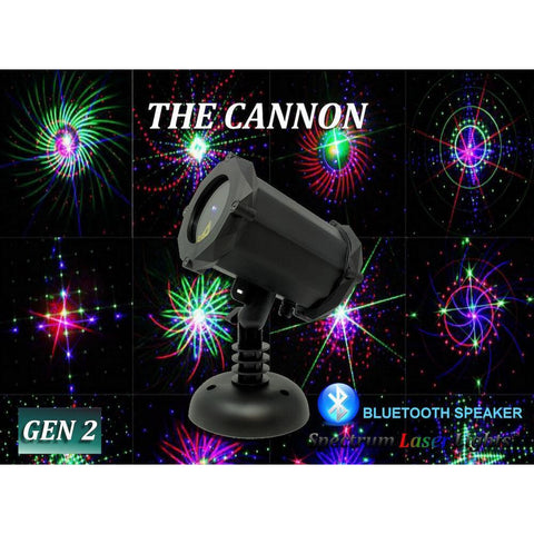 Spectrum Cannon RGB Moving 16 Pattern Laser Projector with Bluetooth Speaker (SL-39)