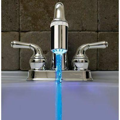 Temperature Controlled LED faucet light