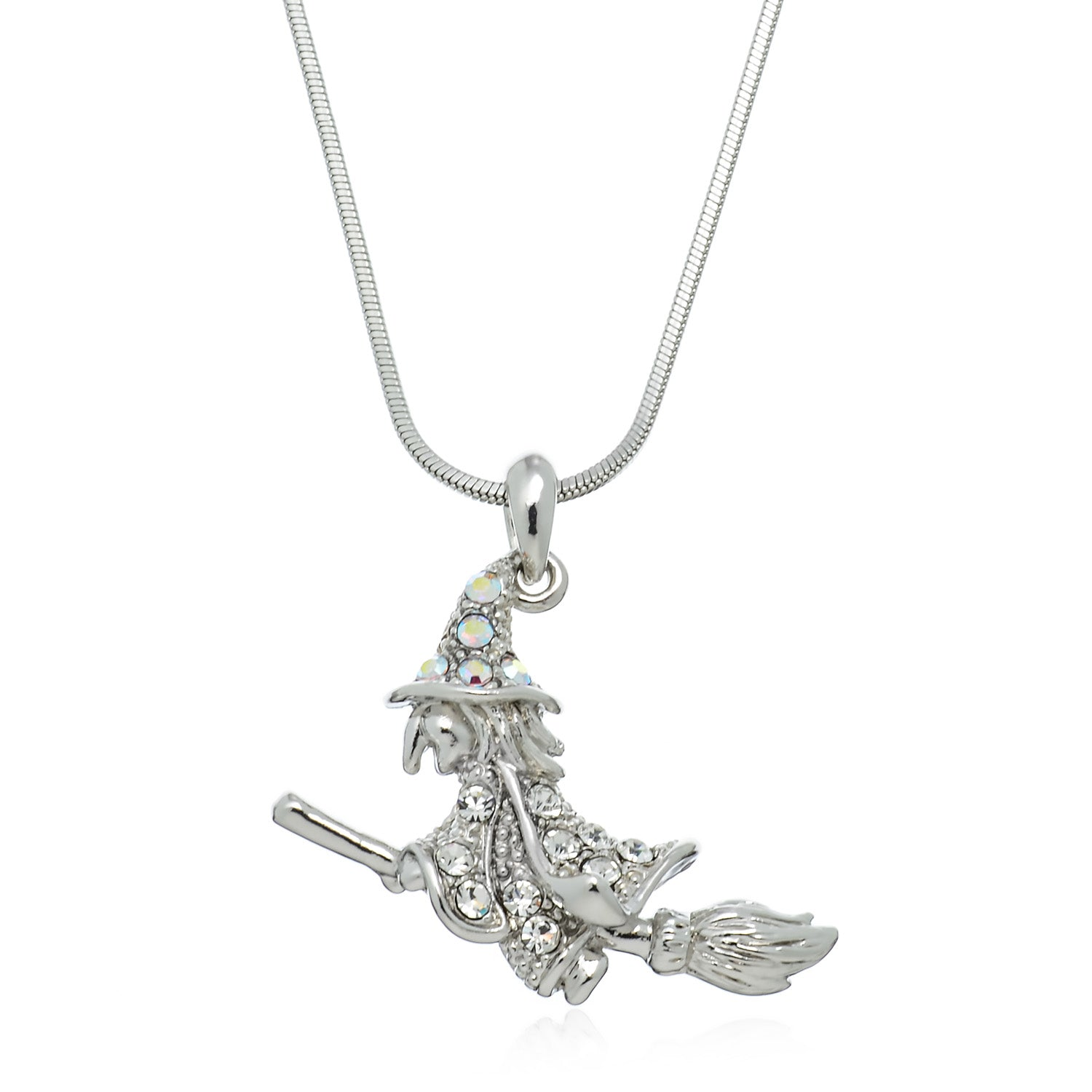 Pammyj silvertone wicked witch crystal pendant necklace 21728 pammyj silvertone wicked witch crystal pendant necklace 18 aloadofball Gallery