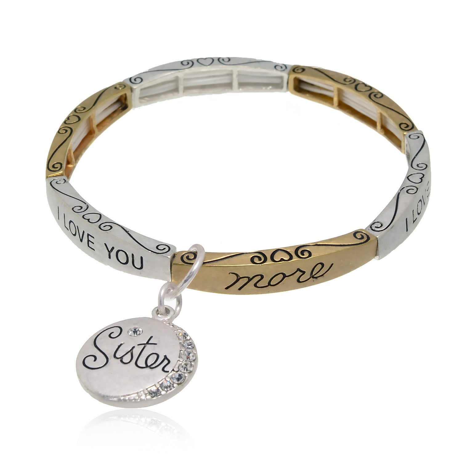 designers bracelet of and angeles silver copy tone los rose layering bead gold two products all fill collections curated