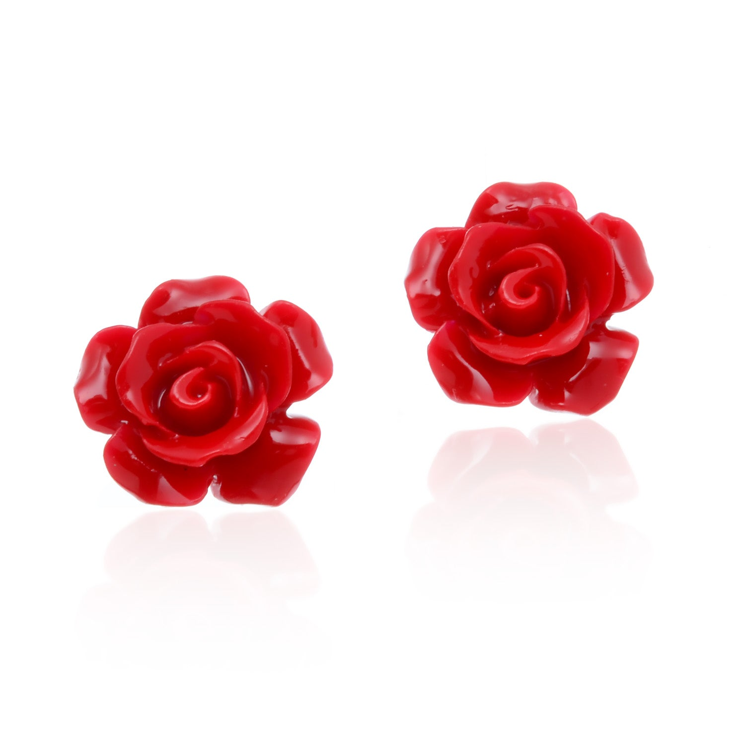 stud beauty pearl earrings products luxyin flower big simple