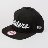 OAKLAND RAIDERS SCRIPT NEW ERA 9FIFTY HATS