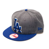 LA Dodgers New Era Snapback Baseball Cap  - Royal/Grey