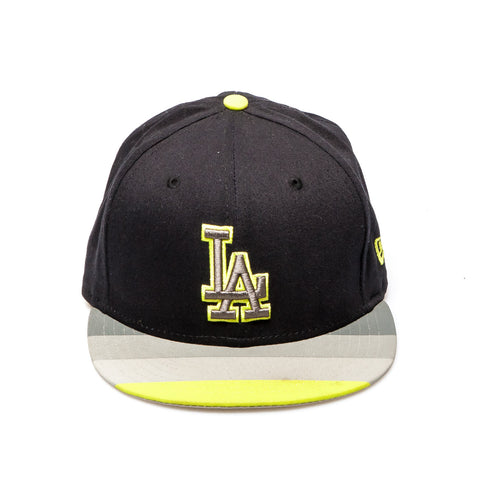 LA Dodgers New Era Snapback Baseball Cap - Black/Gray/Yellow