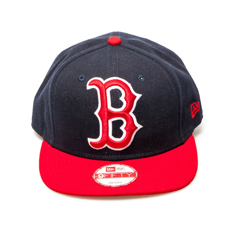 Boston Red Socks New Era Snapback Baseball Cap - Black/Red