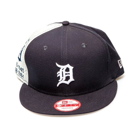 Detroit Tigers New Era Snapback Baseball Cap - Black/White