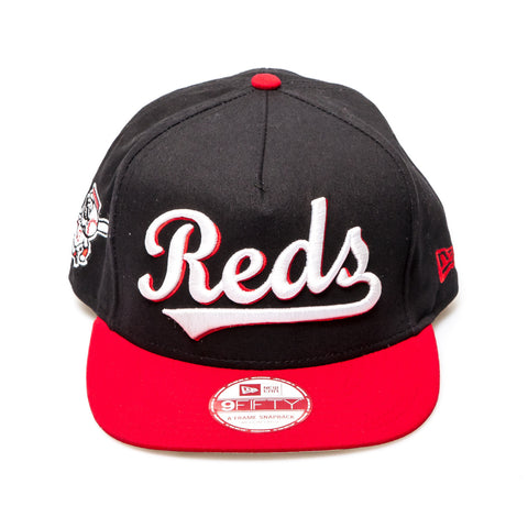 Cincinnati Reds New Era Snapback Baseball Cap - Black/Red