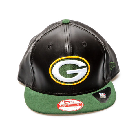 Green Bay Packers Official On Field New Era Snapback Cap - Black/Green
