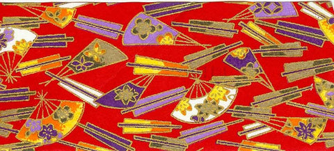 Single Chiyogami Washi Sheet - Red, Purple, Gold