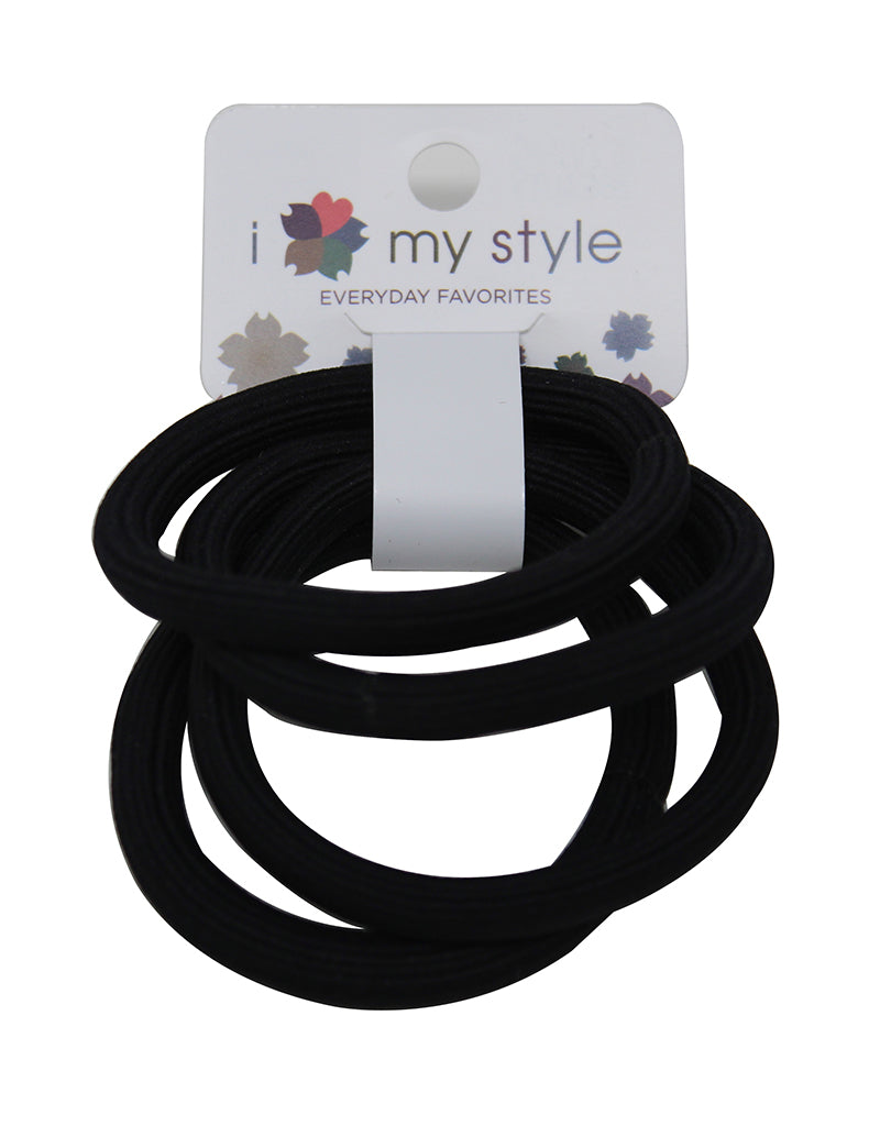 Black Hair Tie Set 4 Pack