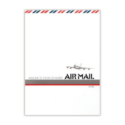 Air Mail White Blank Memo Pad