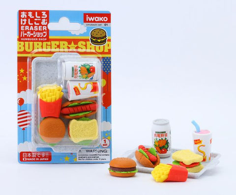 Burger Shop Eraser Set