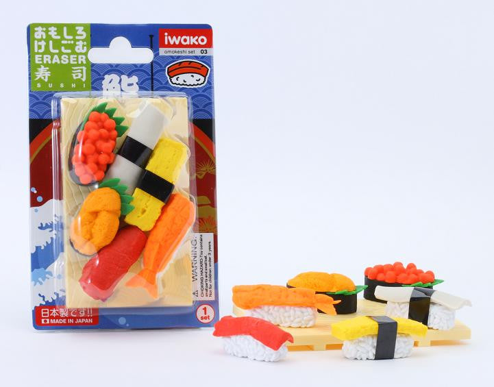 Sushi Board Eraser Set