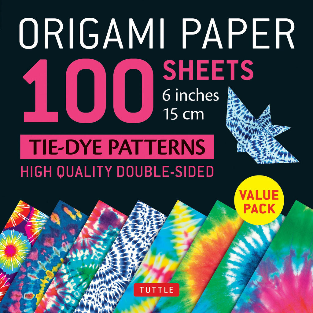 100 Sheets Tie-Dye Origami Paper