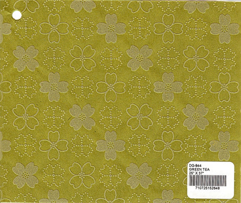 Flocked Dogwood Paper - Green Tea