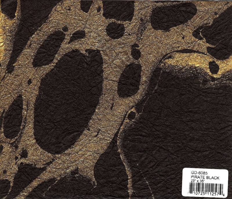 Marbled Momigami Paper - Pirate Black