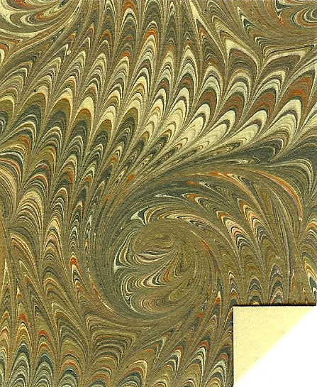 Italian Marble Spiral Pattern - Olive, Green