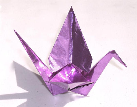 Grape Purple Foil Origami Paper
