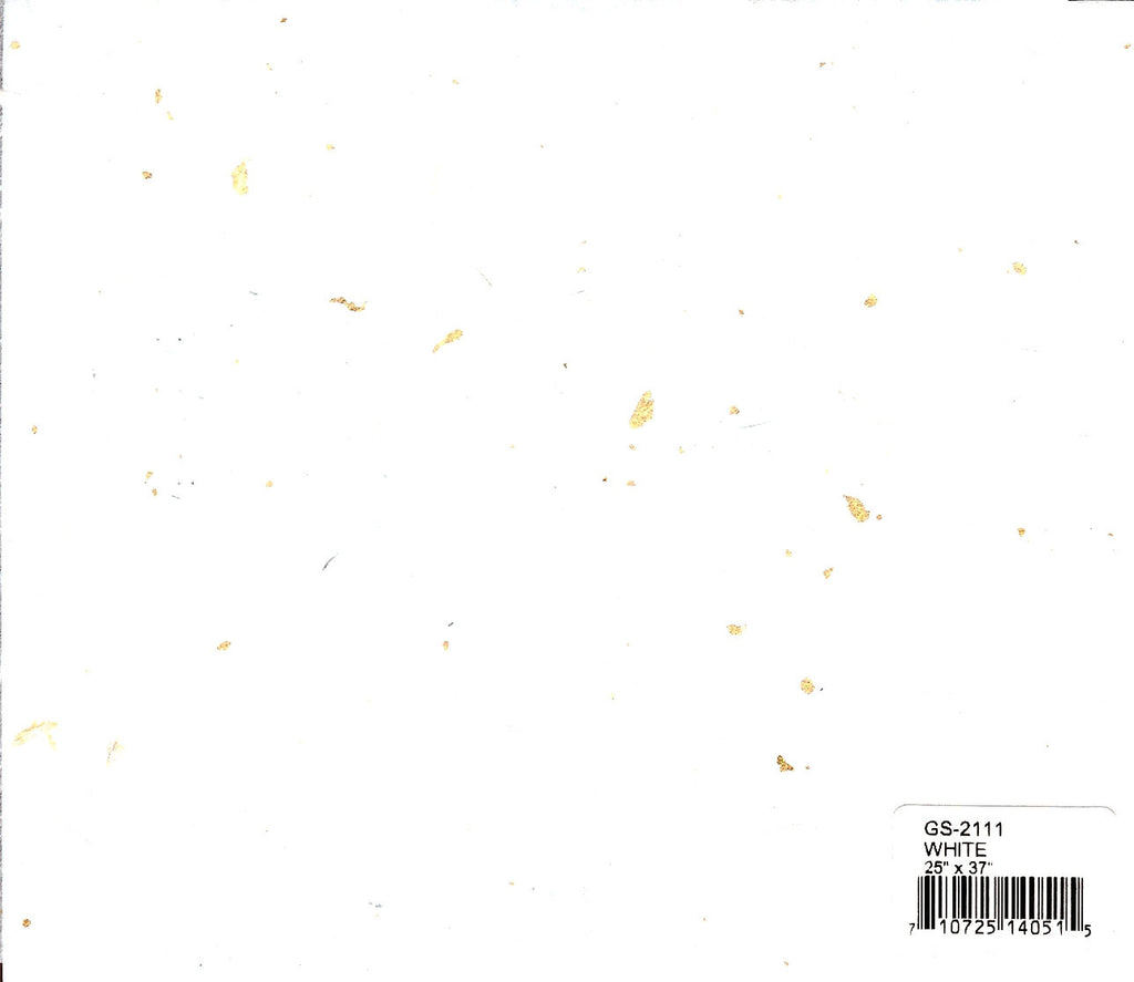 Gold Speckle Unryu Paper - White