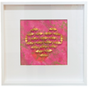 Pink and Gold Heart Cranes by Linda Mihara