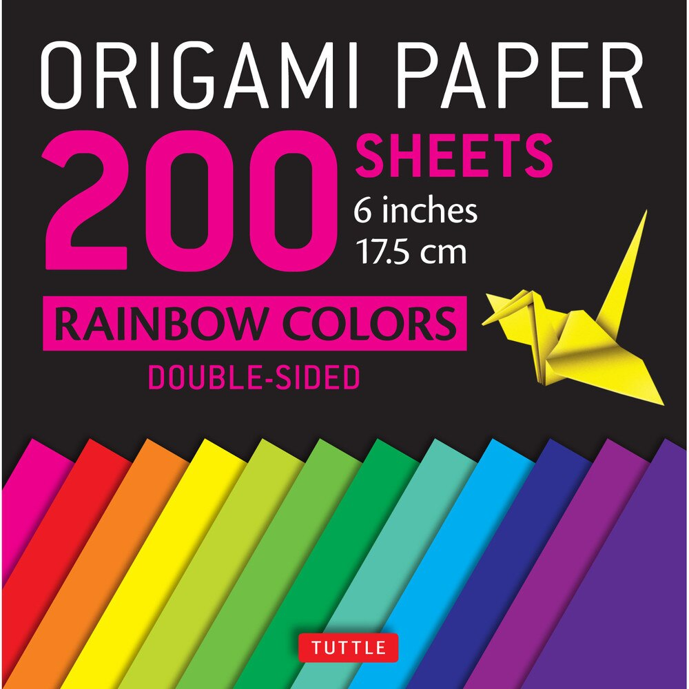 200 Sheets Rainbow Colors Origami Paper