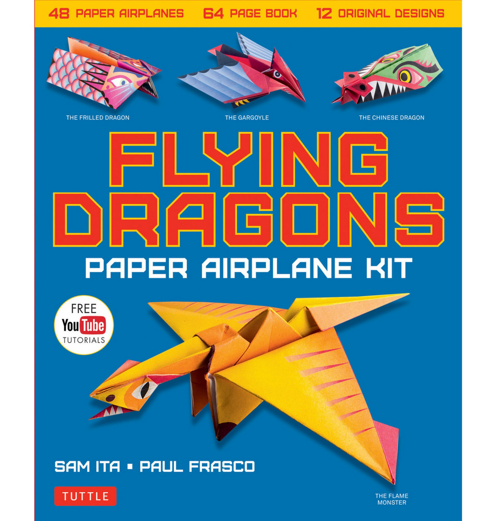 Flying Dragons Paper Airplane Kit