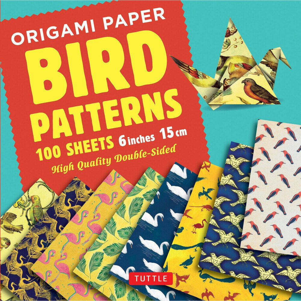 100 Sheets Bird Patterns Origami Paper