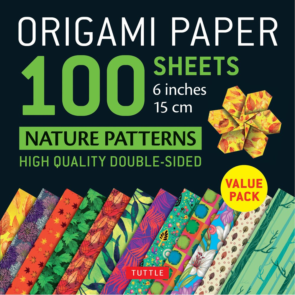 100 Sheets Nature Patterns Origami Paper