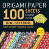 100 Sheets Dog Patterns Origami Paper